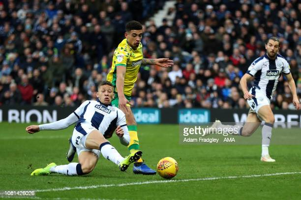 Dwight Gayle of West Bromwich Albion scores a goal to make it 10 during the match between West Bromwich Albion and Norwich City at The Hawthorns on...