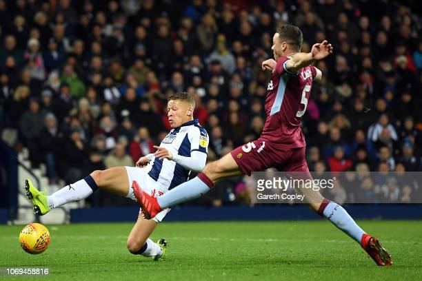 Dwight Gayle of West Bromwich Albion scores during the Sky Bet Championship match between West Bromwich Albion and Aston Villa at The Hawthorns on...