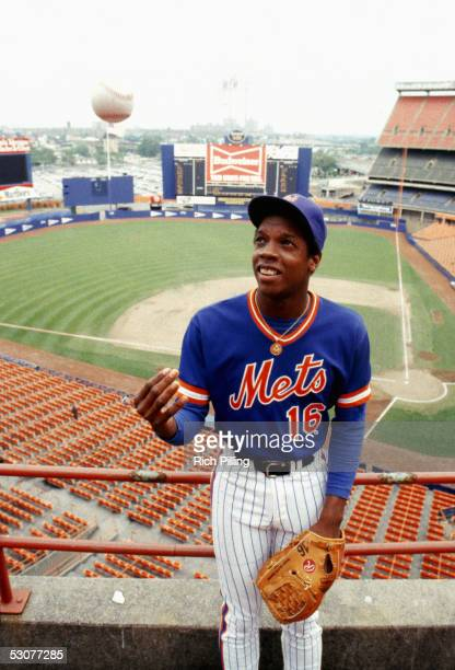 Dwight Gooden of the New York Mets poses for a season portrait Dwight Gooden played for the New York Mets from 19841994