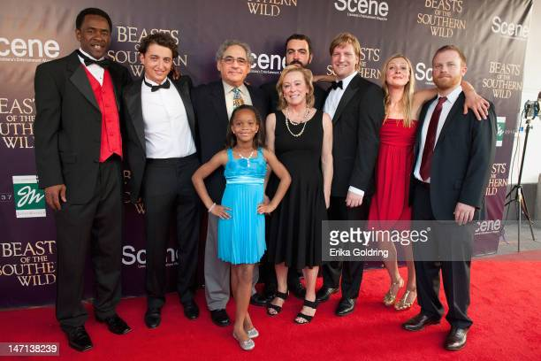 Dwight Henry Ben Zeitlin Quvenzhane Wallis Stephen Giula Nancy Utley Josh Penn Dan Janvey Lucy Alibar and Michael Gottwald attendthe Beasts of the...
