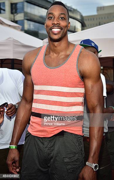 Dwight Howard attends the annual LudaDAY party at Frank Ski Lounge on August 30 2014 in Atlanta City