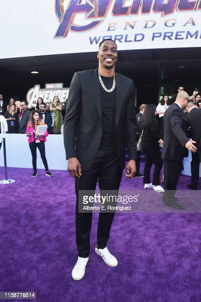 Dwight Howard attends the Los Angeles World Premiere of Marvel Studios' Avengers Endgame at the Los Angeles Convention Center on April 23 2019 in Los...