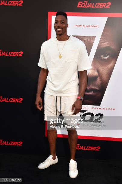 Dwight Howard attends the premiere of Columbia Pictures' Equalizer 2 at the TCL Chinese Theatre on July 17 2018 in Hollywood California
