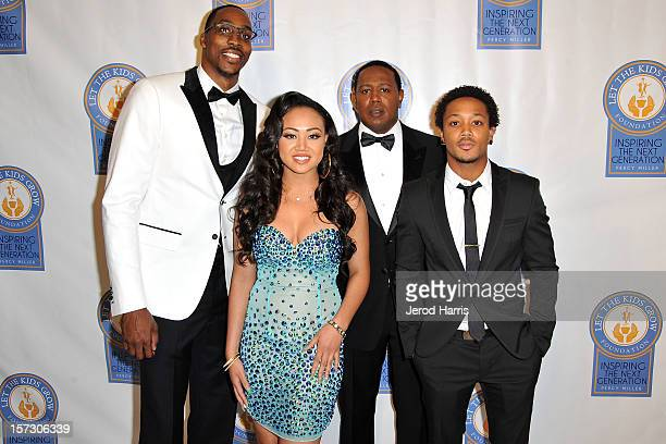Dwight Howard Cymphonique Master P and Romeo arrive at Let The Kids Grow Foundation Holiday Gala at the Beverly Wilshire Four Seasons Hotel on...