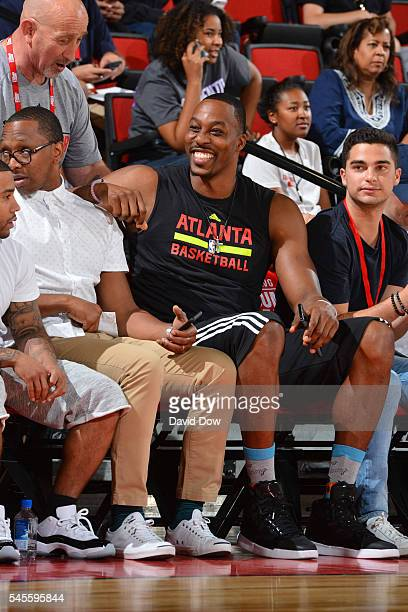 Dwight Howard of the Atlanta Hawks attends the game against the Houston Rockets during the 2016 NBA Las Vegas Summer League game on July 8 2016 at...