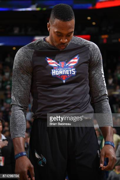 Dwight Howard of the Charlotte Hornets is seen before the game against the Boston Celtics on November 10 2017 at the TD Garden in Boston...