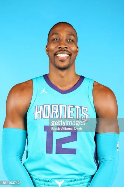 Dwight Howard of the Charlotte Hornets poses for a head shot during media day at Spectrum Center in Charlotte North Carolina NOTE TO USER User...