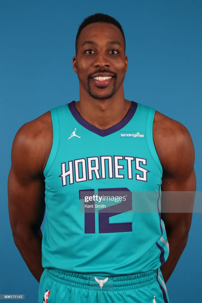 newest 4d154 f5ba8 Dwight Howard of the Charlotte Hornets poses for a head shot ...