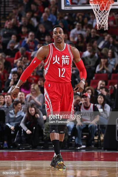 Dwight Howard of the Houston Rockets against the Portland Trail Blazers on February 10 2016 at the Moda Center in Portland Oregon NOTE TO USER User...