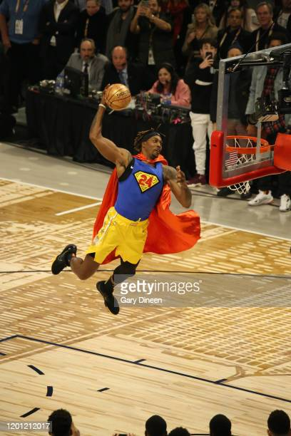 Dwight Howard of the Los Angeles Lakers dunks during the 2020 ATT Slam Dunk Contest as part of State Farm AllStar Saturday Night on February 15 2020...