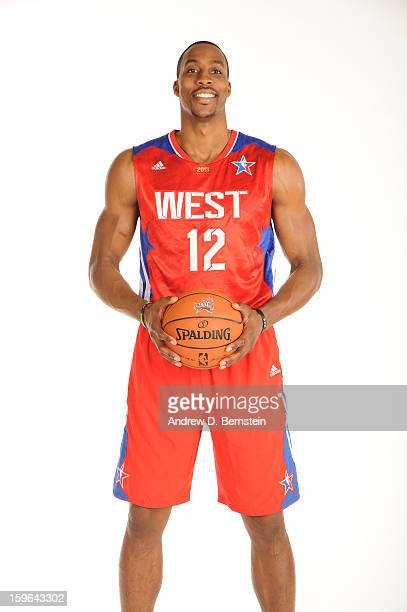 Dwight Howard of the Los Angeles Lakers poses for a portrait in his 2013 AllStar jersey on September 11 2013 at Toyota Sports Center in El Segundo...