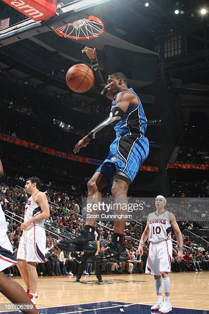 Dwight Howard of the Orlando Magic dunks against the Atlanta Hawks on December 20 2010 at Philips Arena in Atlanta Georgia NOTE TO USER User...