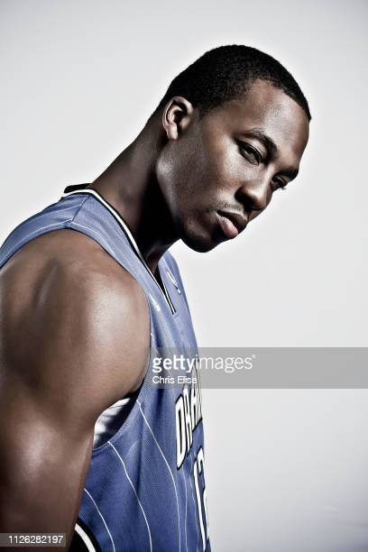 Dwight Howard of the Orlando Magic poses during a promotional tour for Adidas on June 15 at the Park Hyatt ParisVendome in Paris France NOTE TO USER...