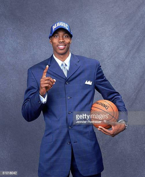 Dwight Howard of the Orlando Magic poses during the 2004 NBA Draft Portraits at Madison Square Garden on June 24 in New York, New York. NOTE TO USER:...
