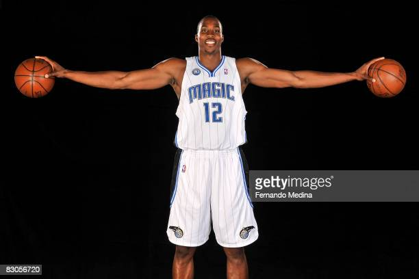 Dwight Howard of the Orlando Magic poses for a portrait during NBA Media Day on September 29 2008 at the RDV Sportsplex in Maitland Florida NOTE TO...