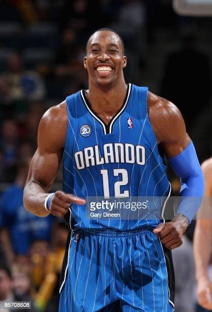 Dwight Howard of the Orlando Magic smiles on the court during the game against the Milwaukee Bucks on March 18, 2009 at the Bradley Center in...