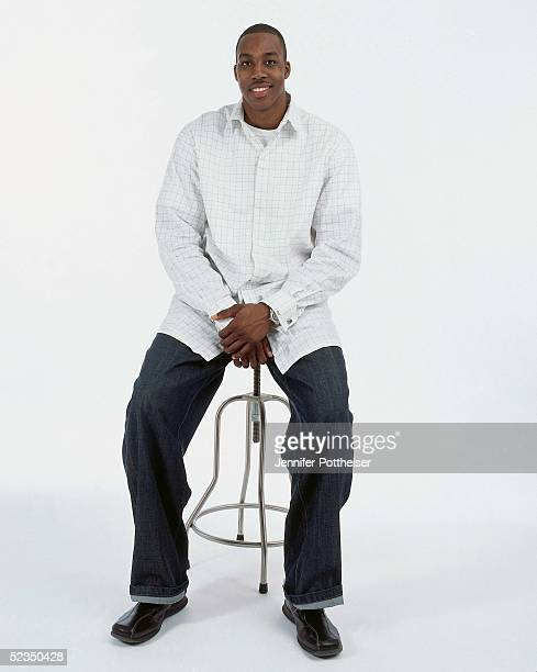 Dwight Howard poses for a photo during the 2005 NBA AllStar Media Availability portrait session on February 18 2005 at The Westin Hotel in Dever...