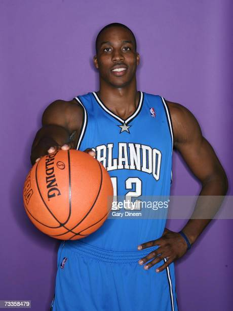 Dwight Howard poses for a portrait at AllStar Saturday night as part NBA AllStar Weekend on February 17 2007 at the Thomas Mack Center in Las Vegas...