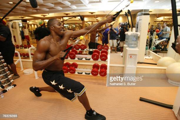 Dwight Howard USA Men's Senior National Team works out during the first round of the 2007 FIBA Americas Championship on August 24 2007 at the Wynn...