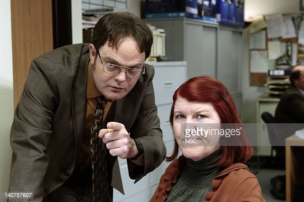 THE OFFICE Dwight K Schrute Manager Episode 724 Pictured Rainn Wilson as Dwight Schrute Kate Flannery as Meredith Palmer Photo by Chris...