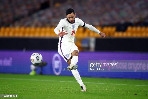 Dwight McNeil of England during the UEFA Euro Under 21 Qualifier match between England U21 and Albania U21 at Molineux on November 17, 2020 in...