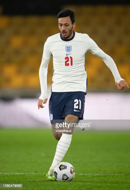 Dwight McNeil of England during the UEFA Euro Under 21 Qualifier match between England U21 and Turkey U21 at Molineux on October 13 2020 in...