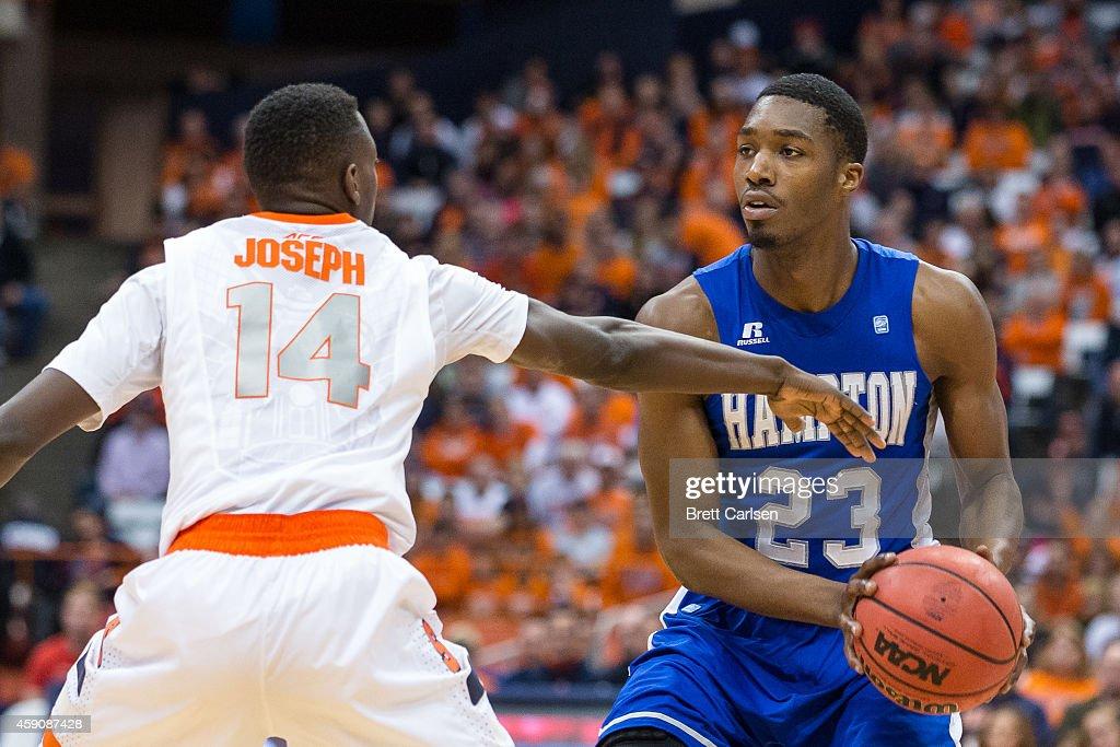 Hampton v Syracuse : News Photo