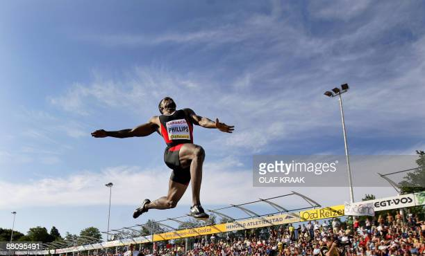 US Dwight Phillips in action during the Fanny Blankers Koen games in Hengelo on June 01 2009 AFP PHOTO/ ANP /OLAF KRAAK netherlands out belgium out