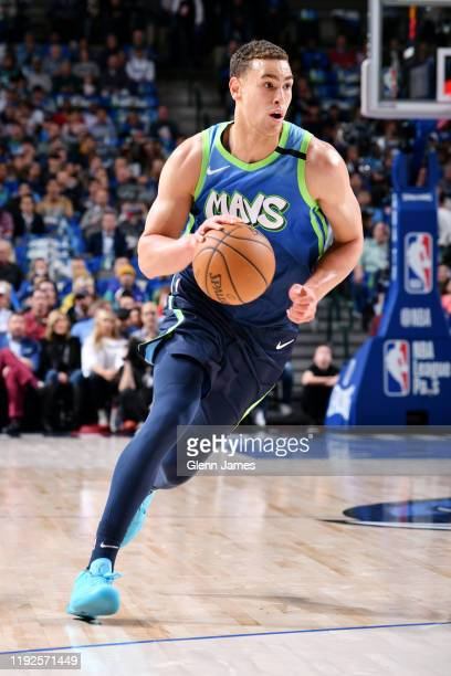 Dwight Powell of the Dallas Mavericks drives to the basket against the Denver Nuggets on January 8 2020 at the American Airlines Center in Dallas...