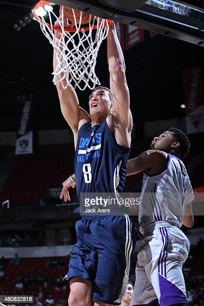 Dwight Powell of the Dallas Mavericks dunks against the Los Angeles Lakers on July 15 2015 at the Thomas Mack Center in Las Vegas Nevada NOTE TO USER...