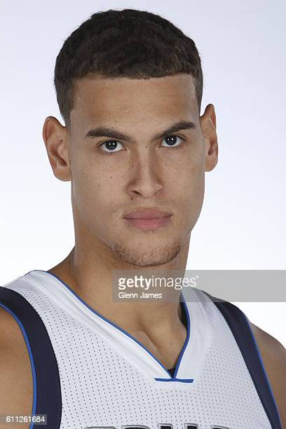Dwight Powell of the Dallas Mavericks poses for a photo during the 20162019 Dallas Mavericks Media Day on September 26 2016 at the American Airlines...