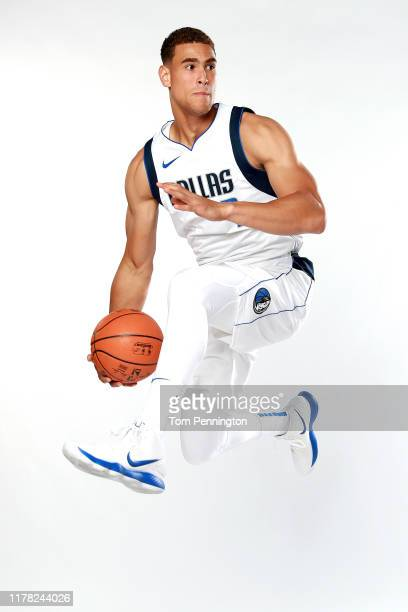 Dwight Powell of the Dallas Mavericks poses for a portrait during the Dallas Mavericks Media Day at American Airlines Center on September 30 2019 in...