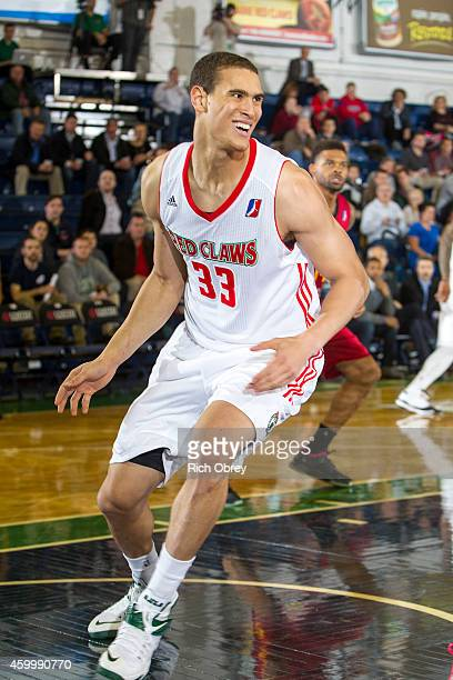 Dwight Powell of the Maine Red Claws smiles against the Fort Wayne Mad Ants on December 4 2014 at the Portland Expo in Portland Maine NOTE TO USER...
