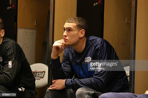 Dwight Powell of the World Team prepares for the BBVA Compass Rising Stars Challenge as part of 2016 NBA AllStar Weekend on February 12 2016 at the...