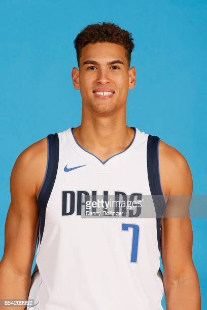 Dwight Powell poses for a photo during the Dallas Mavericks Media Day on September 25 2017 at the American Airlines Center in Dallas Texas NOTE TO...