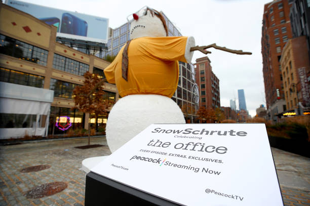 "NY: Dwight Schrute Snowman Debuts In NYC To Celebrate World Snow Day And ""The Office"" Now Streaming Exclusively On Peacock"