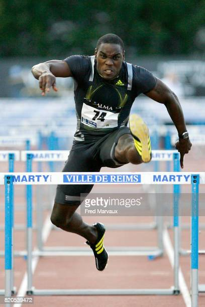 Dwight THOMAS 110m haies Alma Athle Tour 2009 Stade Georges Hebert Reims