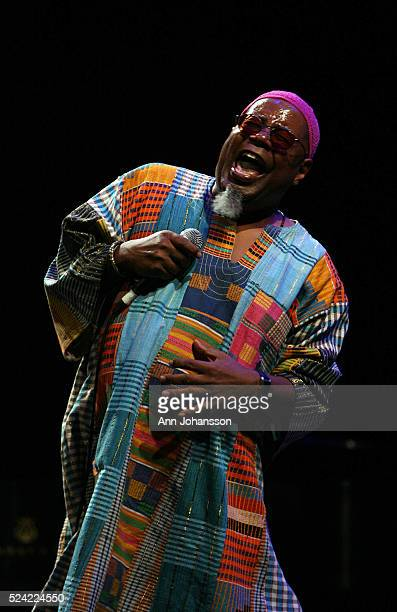 Dwight Trible performs during the Bragg Meets Beethoven event held at the Eli and Edythe Broad Stage at Santa Monica College Performing Arts Center...
