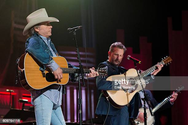 Dwight Yoakam and Bryan Sutton perform at Ryman Auditorium on September 21 2016 in Nashville Tennessee