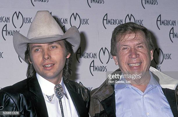 Dwight Yoakam and Buck Owens during 16th Annual American Music Awards at Shrine Auditorium in Los Angeles, California, United States.