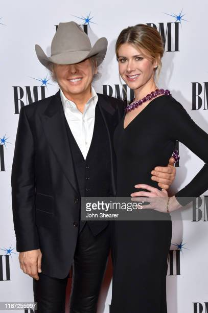 Dwight Yoakam and Emily Joyce attend as BMI presents Dwight Yoakam with President's Award at 67th Annual Country Awards Dinner at BMI on November 12...