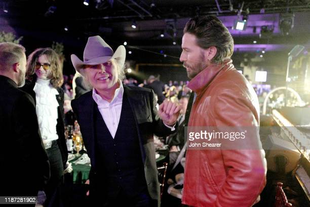 Dwight Yoakam and Mark Wystrach of Midland attend as BMI presents Dwight Yoakam with President's Award at 67th Annual Country Awards Dinner at BMI on...