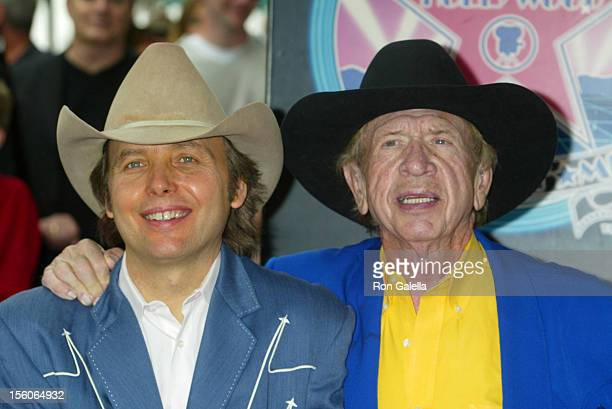 Dwight Yoakam & Buck Owens during Dwight Yoakam Honored with a Star on the Hollywood Walk of Fame for His Achievements in Music at Hollywood...