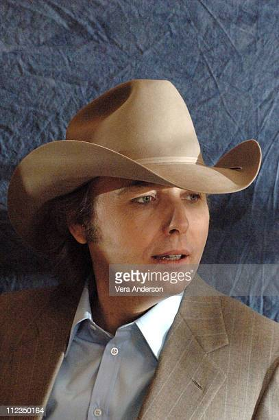 Dwight Yoakam during 'Three Burials of Melquiades Estrada' Press Conference with Dwight Yoakam Barry Pepper Tommy Lee Jones and Guillermo Arriaga at...