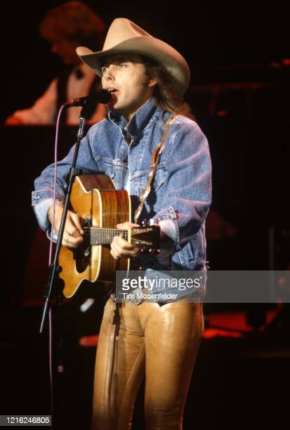 Dwight Yoakam performs at Concord Pavilion on June 20, 1993 in Concord, California.