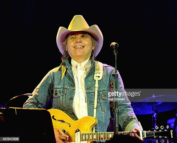 Dwight Yoakam performs on stage at O2 Shepherd's Bush Empire on July 30 2014 in London England