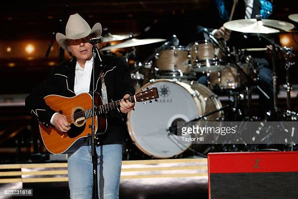 Dwight Yoakam performs onstage during the 50th annual CMA Awards at the Bridgestone Arena on November 2 2016 in Nashville Tennessee