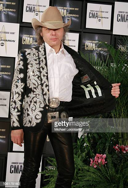 Dwight Yoakam speaks in the press room of the 41st Annual CMA Awards at the Sommet Center on November 7 2007 in Nashville TN