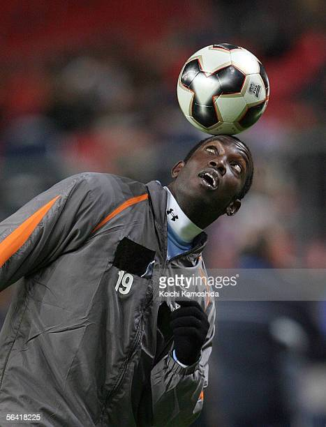Dwight York of Sydney FC in action before the FIFA Club World Championship Toyota Cup Japan 2005 match between Sydney FC and Deportivo Saprissa at...