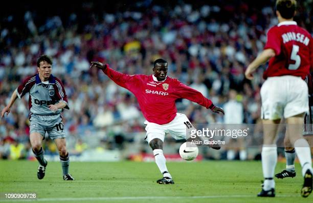 Dwight Yorke of Manchester United during the UEFA Champions league final match between Manchester United and Bayern Munich on May 26 1999 in Camp Nou...